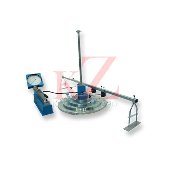 Suplier alat-alat laboratorium teknik sipil Plate Bearing Test Set ASTM D-1194 AASHTO T-235 For determining ultimate beaing capacity of soil on place by means of field loading test.